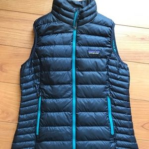 Patagonia Women Puffer Small Vest Navy Blue